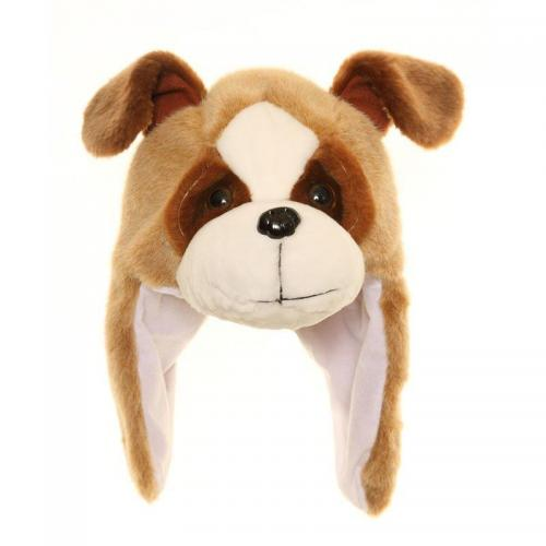 fabc4ff7955 Jiglz Childrens Animal Hat C180-DG BROWN DOG 56CM